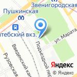 Ориент на карте Санкт-Петербурга
