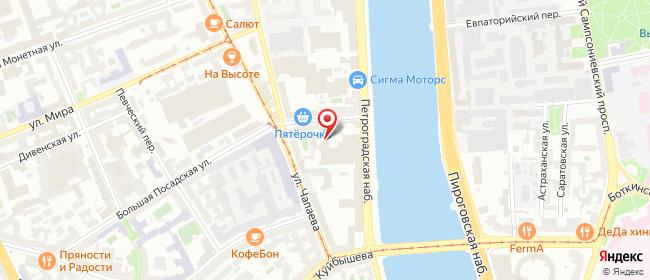 Карта расположения пункта доставки Санкт-Петербург Петроградская в городе Санкт-Петербург