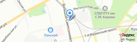 ТЕЛРОС на карте Санкт-Петербурга