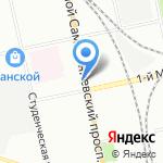 Репка на карте Санкт-Петербурга
