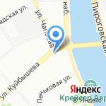 Метстиль на карте Санкт-Петербурга