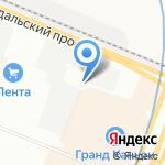 Авто спа на карте Санкт-Петербурга