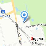 Парк Лесотехнической Академии на карте Санкт-Петербурга