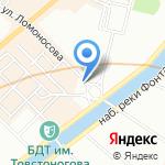 Комитет по архитектуре и градостроительству Ленинградской области на карте Санкт-Петербурга