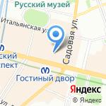 Максимилиан на карте Санкт-Петербурга