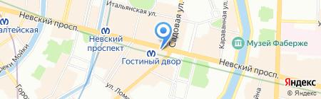 Балтия Тур на карте Санкт-Петербурга