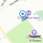 Футболика на карте Санкт-Петербурга