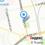 Администрация Выборгского района на карте Санкт-Петербурга