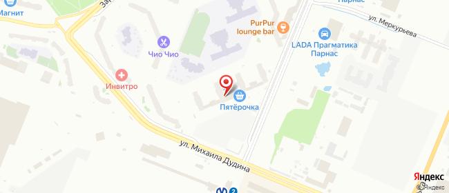 Карта расположения пункта доставки Санкт-Петербург Федора Абрамова в городе Санкт-Петербург