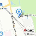 98RUS на карте Санкт-Петербурга