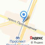 Магазин обуви на карте Санкт-Петербурга