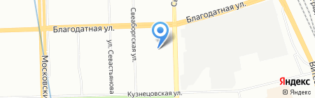 Мой переезд на карте Санкт-Петербурга