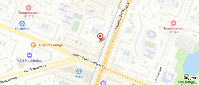 Карта расположения пункта доставки Санкт-Петербург Энгельса в городе Санкт-Петербург