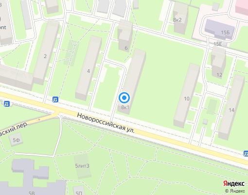Жилищно-строительный кооператив «ЖСК №188» на карте Санкт-Петербурга