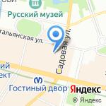 Магазин женской одежды и нижнего белья на карте Санкт-Петербурга