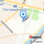 ЛЕКС-тур на карте Санкт-Петербурга