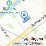 Средняя общеобразовательная школа №308 с углубленным изучением математики на карте Санкт-Петербурга