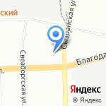 Средняя общеобразовательная школа №371 с углубленным изучением русского на карте Санкт-Петербурга