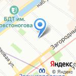 Санкт-Петербургский государственный университет промышленных технологий и дизайна на карте Санкт-Петербурга