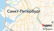 Гостиницы города Санкт-Петербург на карте