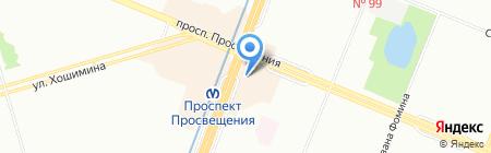 Клубничка на карте Санкт-Петербурга