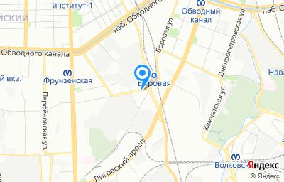 Местоположение на карте пункта техосмотра по адресу г Санкт-Петербург, ул Черниговская, д 14 литер и