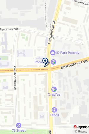 МЕБЕЛЬНАЯ КОМПАНИЯ ЛИДИВА И.Т на карте Санкт-Петербурга