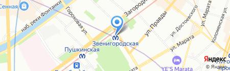 Zinger на карте Санкт-Петербурга