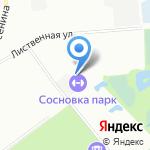 Сосновка Парк на карте Санкт-Петербурга