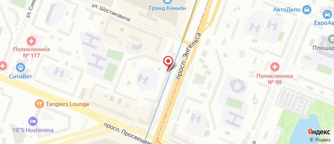 Карта расположения пункта доставки NET STORE в городе Санкт-Петербург