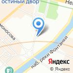 Академия Русского балета им. А.Я. Вагановой на карте Санкт-Петербурга