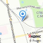 Югер на карте Санкт-Петербурга
