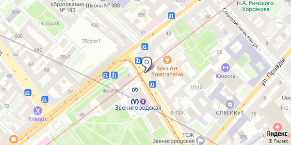 Дружба. Схема проезда в Санкт-Петербурге