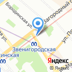 Coral на карте Санкт-Петербурга