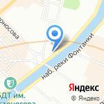 Унисон на карте Санкт-Петербурга