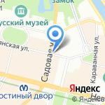 Пир-пирожок на карте Санкт-Петербурга