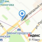 Пилигрим Трэвел на карте Санкт-Петербурга