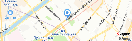 Las Flores на карте Санкт-Петербурга
