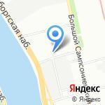 Акцент на карте Санкт-Петербурга