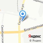 Рубеж на карте Санкт-Петербурга