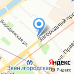 Литейный проспект на карте Санкт-Петербурга
