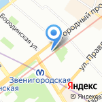 Камея на карте Санкт-Петербурга