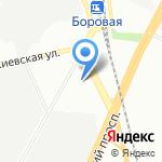 Тетис на карте Санкт-Петербурга