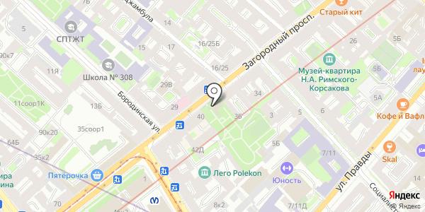 Веранда. Схема проезда в Санкт-Петербурге