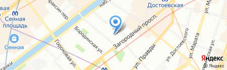 Фабрика Лета на карте Санкт-Петербурга