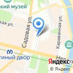 Санкт-Петербургская государственная театральная библиотека на карте Санкт-Петербурга