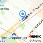 К-9 на карте Санкт-Петербурга