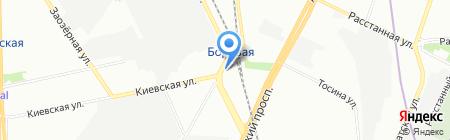 Шиномонтажная мастерская на Черниговской на карте Санкт-Петербурга