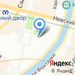 Касса по продаже железнодорожных билетов на карте Санкт-Петербурга