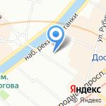 Визит на карте Санкт-Петербурга